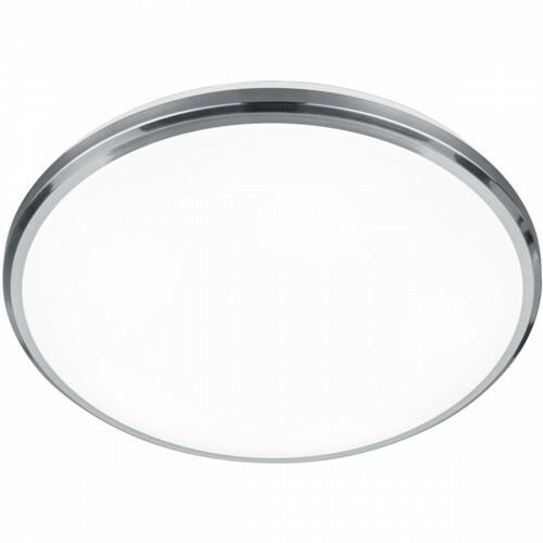 LED Plafondlamp - Plafondverlichting - Trion Contano - 11W - Warm Wit 3000K - Rond - Mat Nikkel - Aluminium
