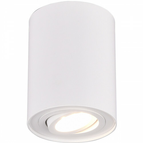 LED Plafondlamp - Plafondverlichting - Trion Cosmin - GU10 Fitting - 1-lichts - Rond - Mat Wit - Aluminium