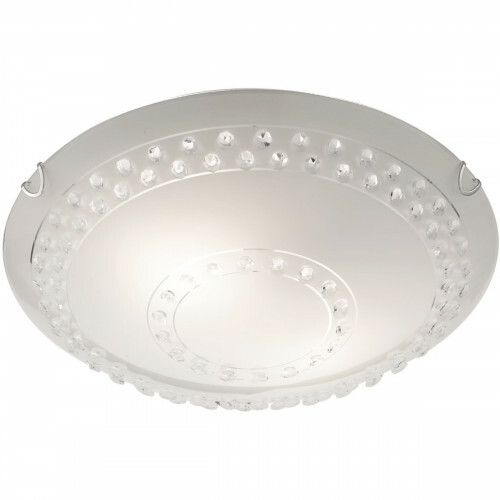 LED Plafondlamp - Plafondverlichting - Trion Crasto - E27 Fitting - 2-lichts - Rond - Mat Wit - Aluminium