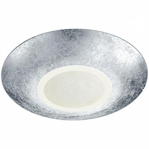 LED Plafondlamp - Plafondverlichting - Trion Cuno - 15W - Warm Wit 3000K - Rond - Mat Zilver - Aluminium