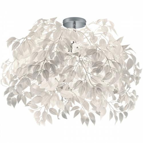 LED Plafondlamp - Plafondverlichting - Trion Lovy - E14 Fitting - 3-lichts - Rond - Glans Chroom Aluminium