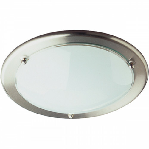 LED Plafondlamp - Plafondverlichting - Trion Primy - E27 Fitting - Rond - Mat Nikkel - Aluminium