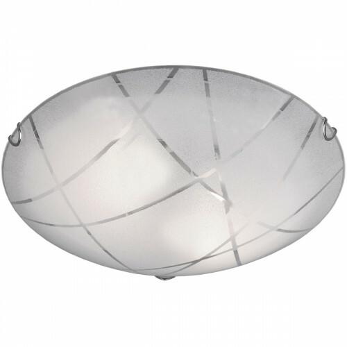 LED Plafondlamp - Plafondverlichting - Trion Sandra - E27 Fitting - 2-lichts - Rond - Mat Wit - Glas