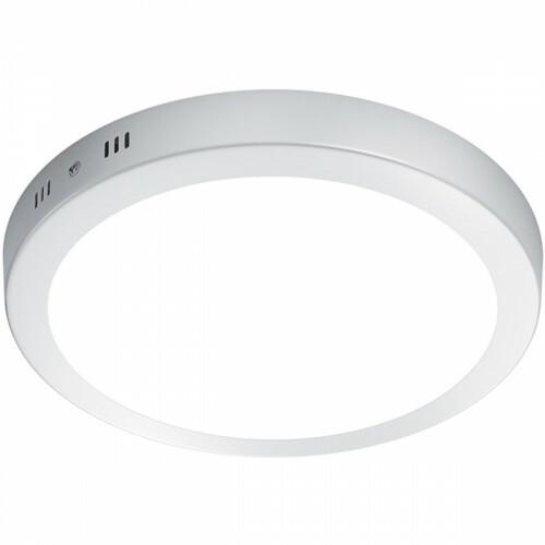 LED Plafondlamp - Plafondverlichting - Trion Sonta - 17W - Warm Wit 3000K - Rond - Mat Wit - Aluminium