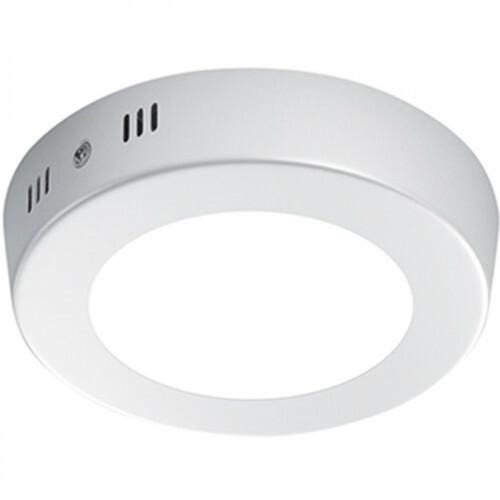 LED Plafondlamp - Plafondverlichting - Trion Sonta - 5W - Warm Wit 3000K - Rond - Mat Wit - Aluminium