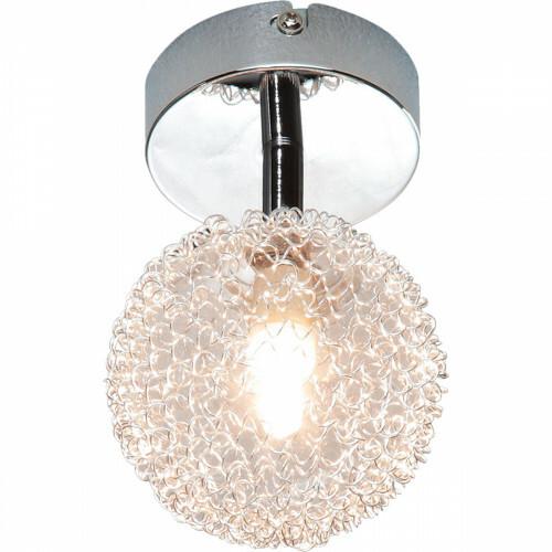 LED Plafondlamp - Plafondverlichting - Trion Ware - G9 Fitting - 1-Lichts - Rond - Glans Chroom - Aluminium