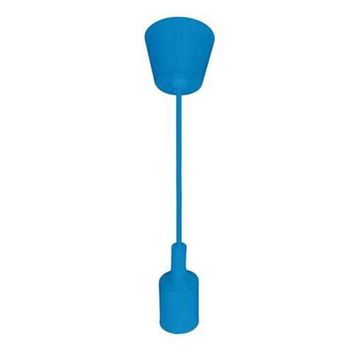 LED Plafondlamp - Plafondverlichting - Turno - Rond - Mat Blauw Kunststof - E27