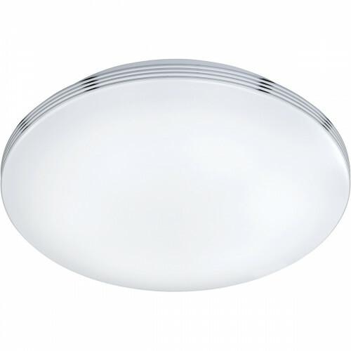 LED Plafondlamp - Trion Apity - Opbouw Rond 24W - Spatwaterdicht IP44 - Dimbaar - Warm Wit 3000K - Glans Chroom - Aluminium