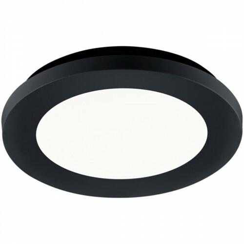 LED Plafondlamp - Trion Camy - Opbouw Rond 10W - Spatwaterdicht IP44 - Dimbaar - Warm Wit 3000K - Mat Zwart