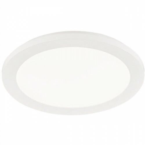 LED Plafondlamp - Trion Camy - Opbouw Rond 15W - Spatwaterdicht IP44 - Dimbaar - Warm Wit 3000K - Mat Wit