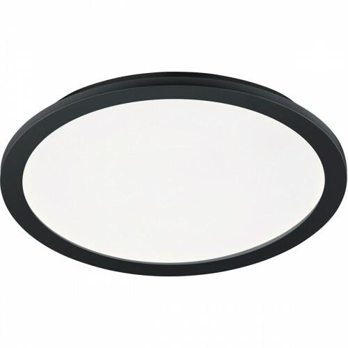 LED Plafondlamp - Trion Camy - Opbouw Rond 24W - Spatwaterdicht IP44 - Dimbaar - Warm Wit 3000K - Mat Zwart