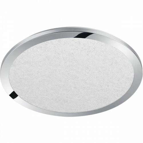 LED Plafondlamp - Trion Ceaniry - Opbouw Rond 24W - Spatwaterdicht IP44 - Dimbaar - Warm Wit 3000K - Glans Chroom
