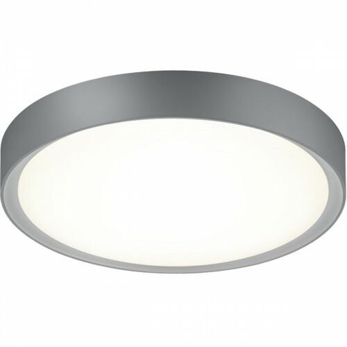 LED Plafondlamp - Trion Clirno - 18W - Warm Wit 3000K - Dimbaar - Opbouw Rond - Mat Titaan - Kunststof