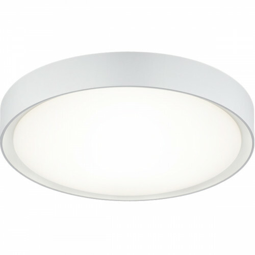 LED Plafondlamp - Trion Clirno - 18W - Warm Wit 3000K - Dimbaar - Opbouw Rond - Mat Wit - Kunststof