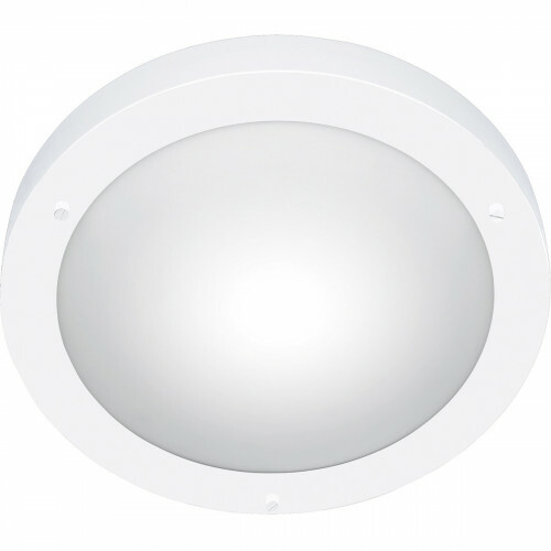 LED Plafondlamp - Trion Condi - Opbouw Rond - Spatwaterdicht IP44 - E27 Fitting - Mat Wit Aluminium - Ø310mm
