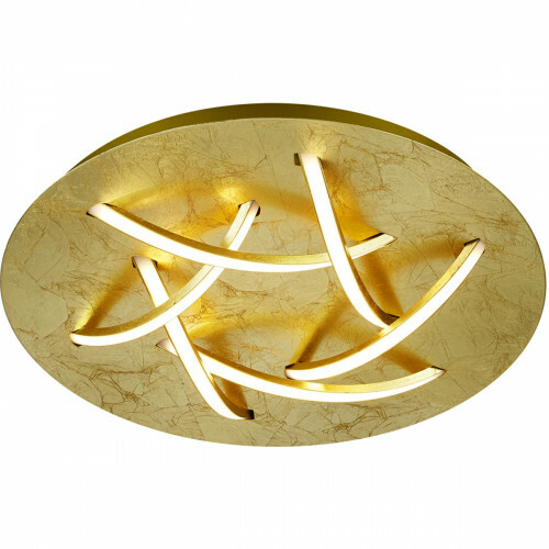 LED Plafondlamp - Trion Dolpha - 18W - Warm Wit 3000K - 6-lichts - Dimbaar - Rond - Mat Goud - Aluminium