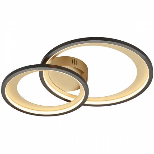 LED Plafondlamp - Trion Granity - 29W - Warm Wit 3000K - Dimbaar - Ovaal - Mat Zwart - Aluminium