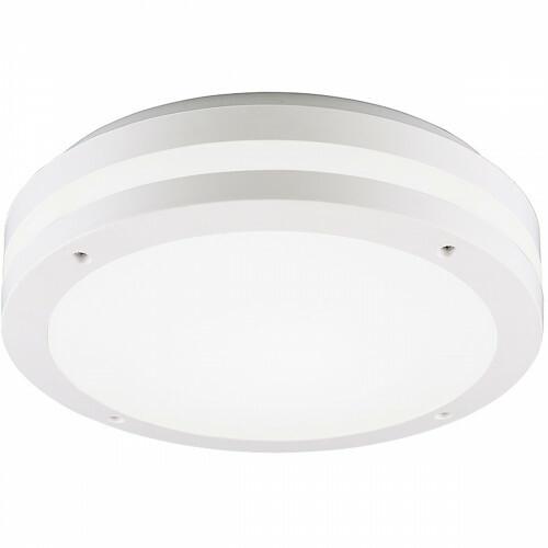 LED Plafondlamp - Trion Keraly - Opbouw Rond - Waterdicht - 12W - Warm Wit 3000K - Mat Wit - Kunststof