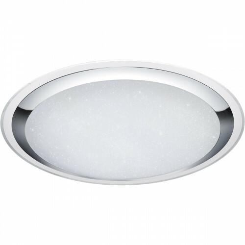 LED Plafondlamp - Trion Mikany - 95W - Aanpasbare Kleur - Dimbaar - Afstandsbediening - Rond - Mat Wit