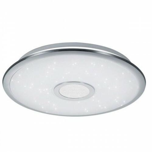 LED Plafondlamp - Trion Osirina - 30W - Aanpasbare Kleur - Dimbaar - Afstandsbediening - Rond - Glans Chroom - Kunststof