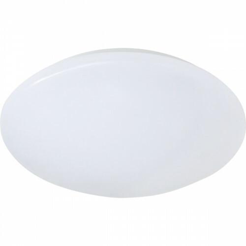 LED Plafondlamp - Trion Puta - Opbouw Rond 12W - Spatwaterdicht IP44 - Warm Wit 3000K - Mat Wit Kunststof