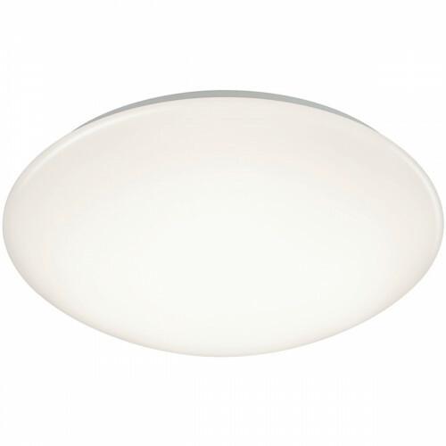 LED Plafondlamp - Trion Puta - Opbouw Rond 15W - Spatwaterdicht IP44 - Warm Wit 3000K - Mat Wit Kunststof