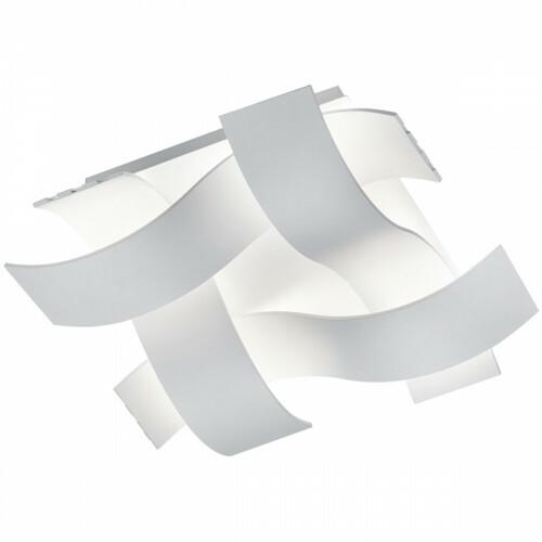 LED Plafondlamp - Trion Rubony - 18W - Warm Wit 3000K - Dimbaar - Vierkant - Mat Wit - Aluminium