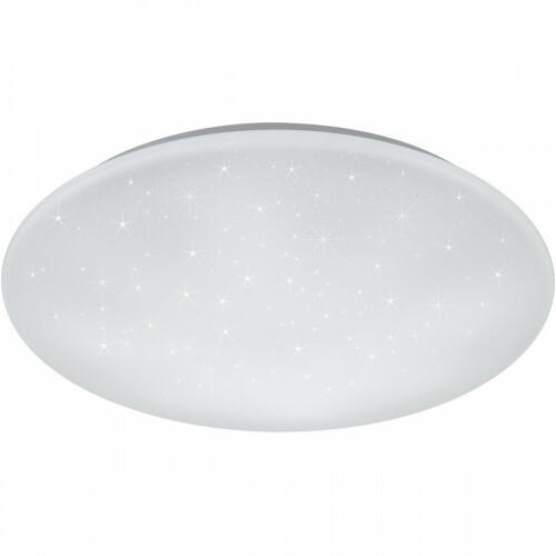 LED Plafondlamp - Trion Ster - 27W - Aanpasbare Kleur - Dimbaar - Afstandsbediening - Sterlicht - Rond - Mat Wit - Kunststof