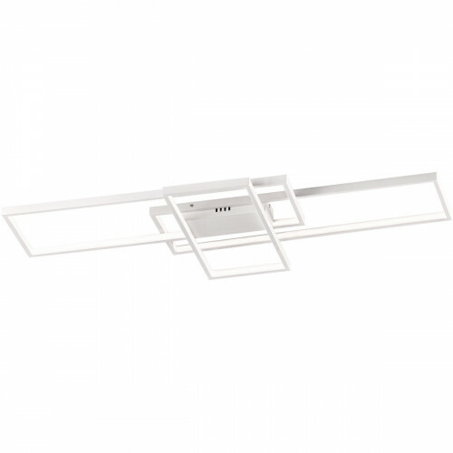LED Plafondlamp - Trion Tucino - 35W - Warm Wit 3000K - Dimbaar - Rechthoek - Mat Wit - Aluminium