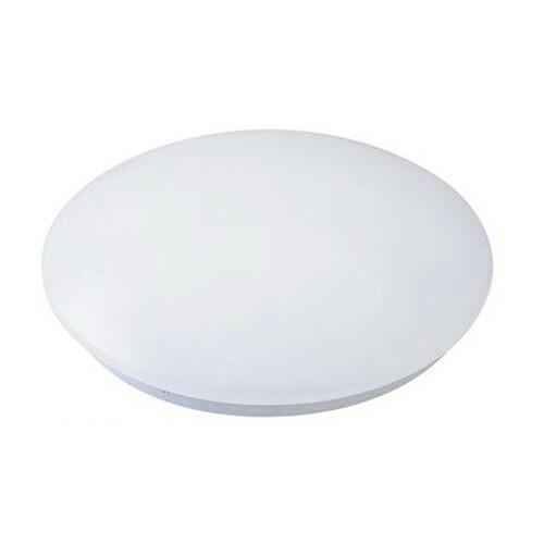 LED Lamp met Bewegingssensor - Opbouw Rond 24W - Natuurlijk Wit 4200K - 360° - Mat Wit Aluminium