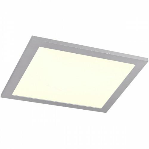 LED Plafondlamp WiZ - Smart LED - Trion Alineon - Slimme LED - Dimbaar - Aanpasbare Kleur - 15W - Mat Titaan - Vierkant
