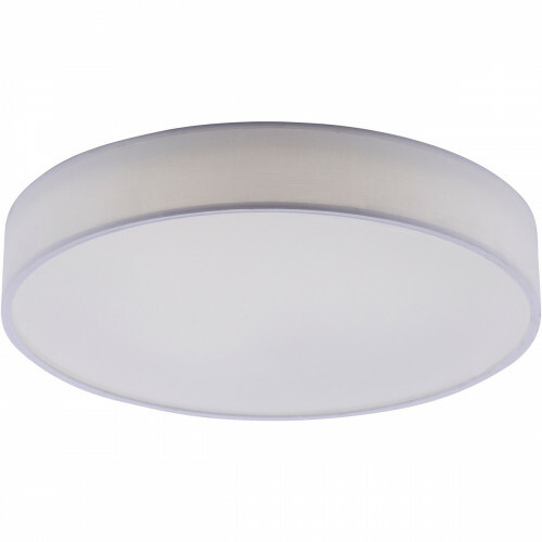 LED Plafondlamp WiZ - Smart LED - Trion Ditro - 45W - Aanpasbare Kleur - Dimbaar - Afstandsbediening - Rond - Mat Wit - Aluminium
