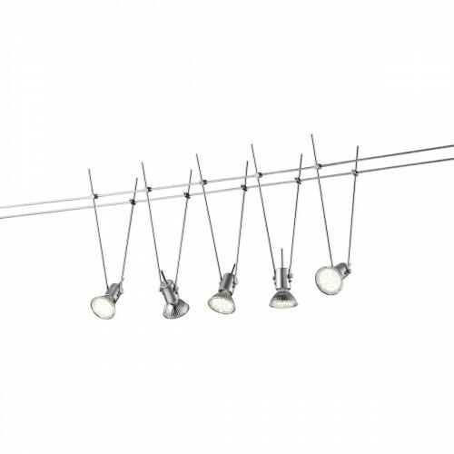 LED Plafondspot - Trion Basicion - 15W - GU5.3 Fitting - Warm Wit 3000K - 5-lichts - Rond - Mat Titaan - Aluminium