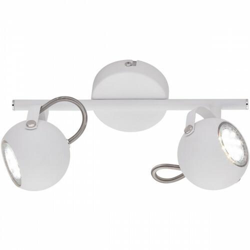 LED Plafondspot - Trion Bosty - GU10 Fitting - 2-lichts - Rond - Mat Wit - Aluminium