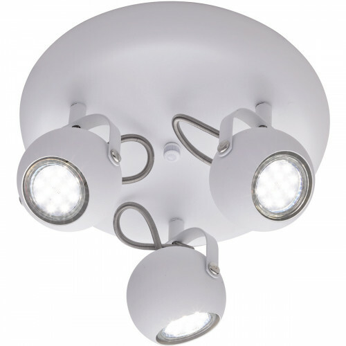 LED Plafondspot - Trion Bosty - GU10 Fitting - 3-lichts - Rond - Mat Wit - Aluminium