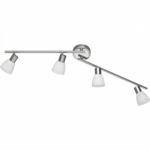 LED Plafondspot - Trion Caru - 12W - G9 Fitting - Warm Wit 3000K - 4-lichts - Dimbaar - Rond - Mat Nikkel - Aluminium