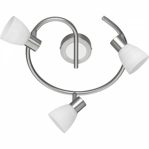 LED Plafondspot - Trion Caru - 9W - G9 Fitting - Warm Wit 3000K - 3-lichts - Dimbaar - Rond - Mat Nikkel - Aluminium