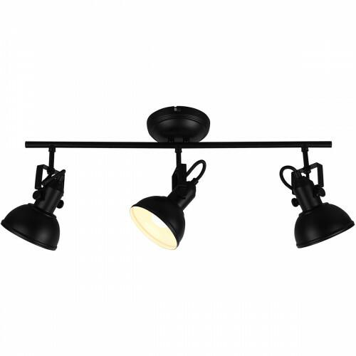 LED Plafondspot - Trion Gini - E14 Fitting - 3-lichts - Rond - Mat Zwart - Aluminium