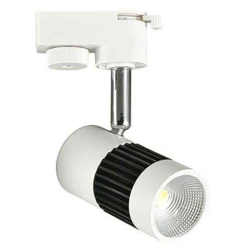 LED Railverlichting - Track Spot - 13W 1 Fase - Rond - Natuurlijk Wit 4200K - Mat Zwart/Wit Aluminium