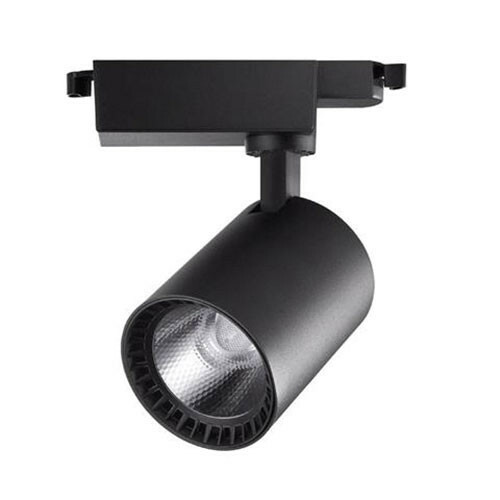 LED Railverlichting - Track Spot - Lion - 10W - 1 Fase - Rond - Natuurlijk Wit 4200K - Mat Zwart - Aluminium