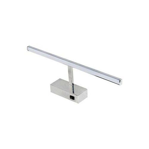 LED Spiegelverlichting - Schilderijverlichting - Rechthoek 8W - Glans Chroom Aluminium