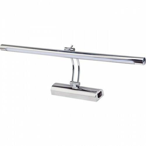 LED Spiegelverlichting - Schilderijverlichting - Akna - Rond 12W - Glans Chroom Aluminium - Verstelbaar
