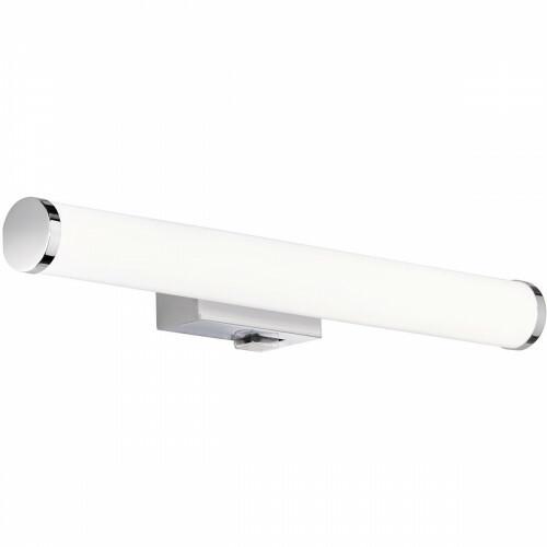 LED Spiegelverlichting - Trion Matero - 4W - Spatwaterdicht IP44 - Warm Wit 3000K - Glans Chroom - Aluminium