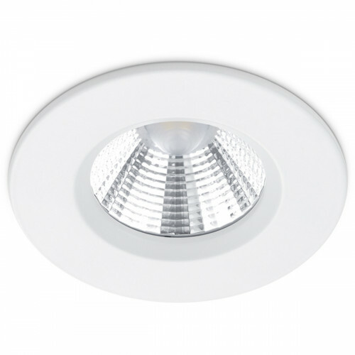 LED Spot - Inbouwspot - Trion Zagrona - 5W - Waterdicht IP65 - Dimbaar - Warm Wit 3000K - Mat Wit - Aluminium - Rond