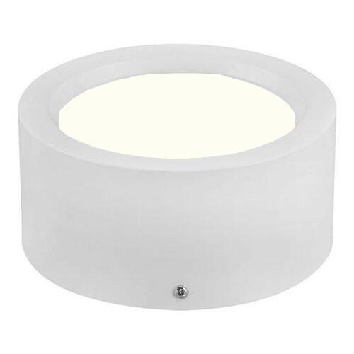 LED Downlight - Opbouw Rond Hoog 15W - Natuurlijk Wit 4200K - Mat Wit Aluminium - Ø180mm
