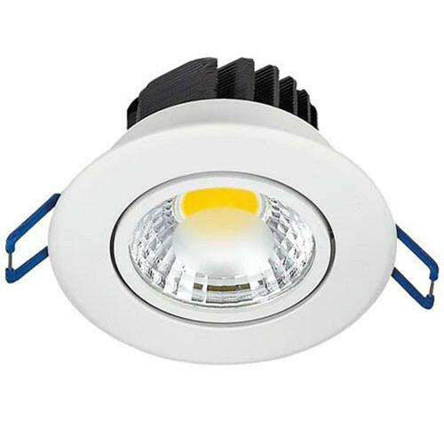 LED Downlight Lila - Inbouw Rond 3W - Natuurlijk Wit 4200K - Mat Wit Aluminium - Kantelbaar Ø83mm