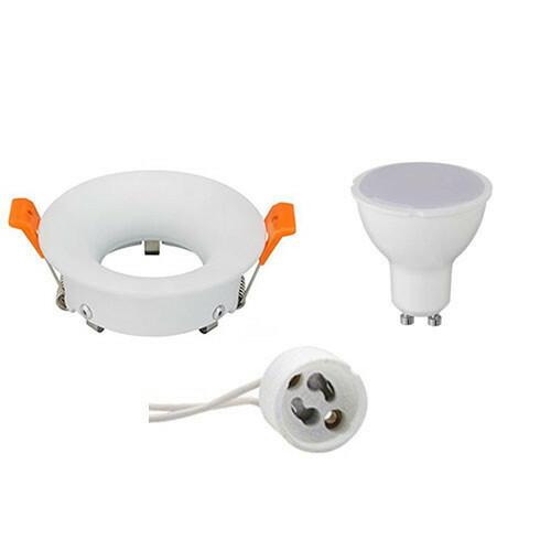 LED Spot Set - GU10 Fitting - Inbouw Rond - Mat Wit - 4W - Natuurlijk Wit 4200K - Ø85mm