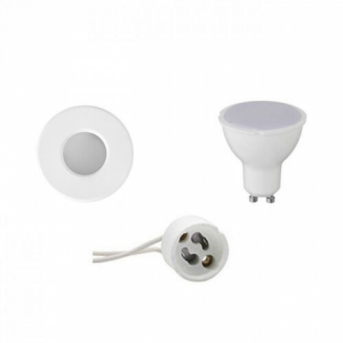 LED Spot Set - GU10 Fitting - Waterdicht IP65 - Inbouw Rond - Mat Wit - 4W - Warm Wit 3000K - Ø82mm