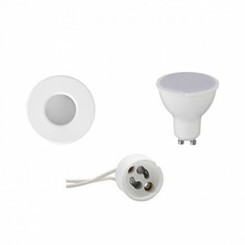 LED Spot Set - Aigi - GU10 Fitting - Waterdicht IP65 - Inbouw Rond - Mat Wit - 8W - Helder/Koud Wit 6400K - Ø82mm