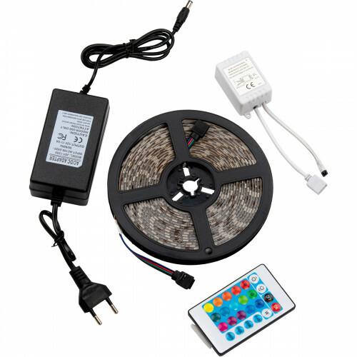 LED Strip Set RGB - Besty Stippo - 5 Meter - Dimbaar - Waterdicht IP65 - Afstandsbediening - 12V